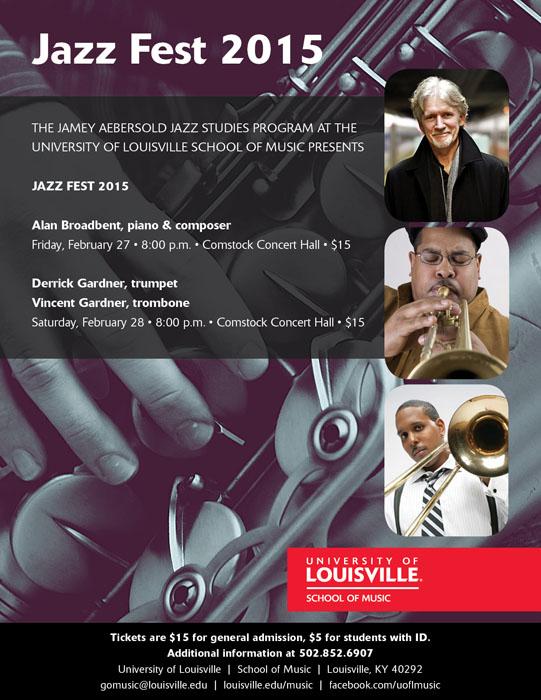 Derrick and Vincent Gardner play U of L Jazz Fest - Feb 28th