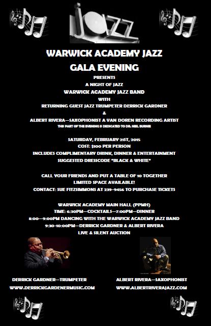 Warwick Academy Jazz Gala feat. Derrick Gardner - Feb 21st